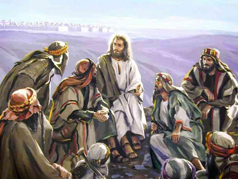 Jezus met zijn disipelen