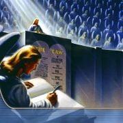 jezus aan het schrijven