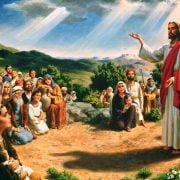 jezus aan het vertellen aan mensen