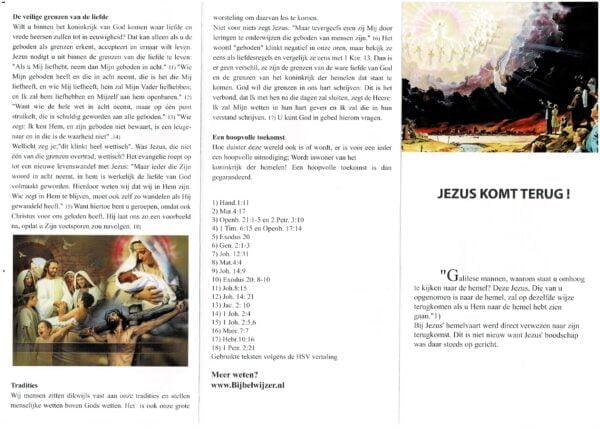 Jezus komt terug binnenkant twee