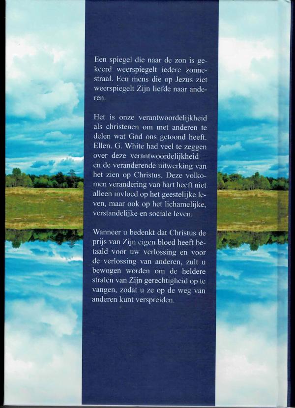 Christus weerspiegelen - achterkant